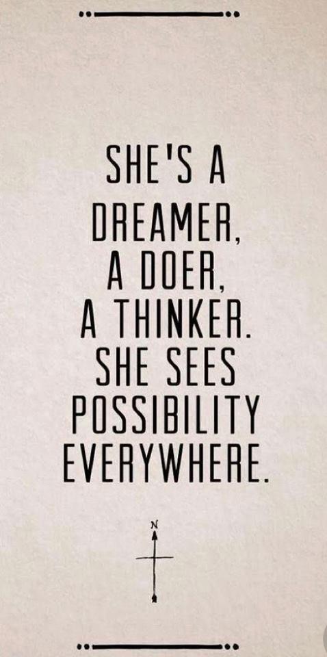 SHES A DREAMER A DOOER