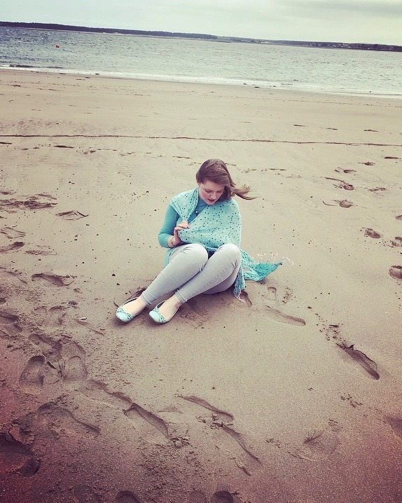 chlo on beach