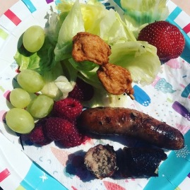christmas plate of food