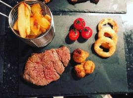 Main: Fillet Steak and Homemade chips